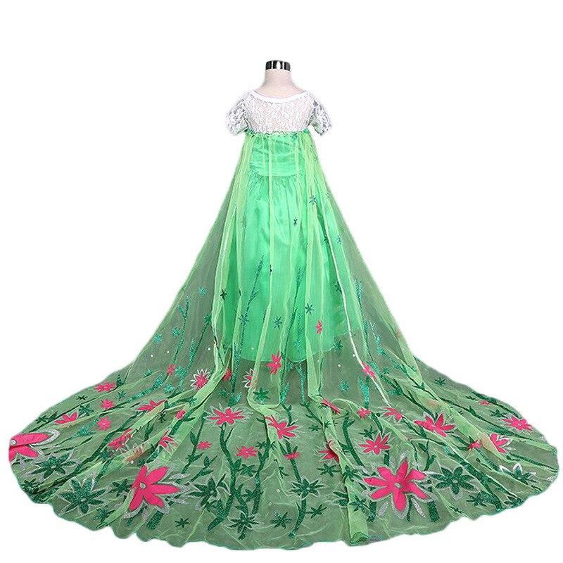 d5cf22ec1e252 Girls Elsa Dress Costume Princess Anna Dresses Cosplay Party Summer ...