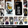 Para micromax a79 silicone macio tpu tampa do telefone móvel de plástico case cor paitn pintura celular saco shell
