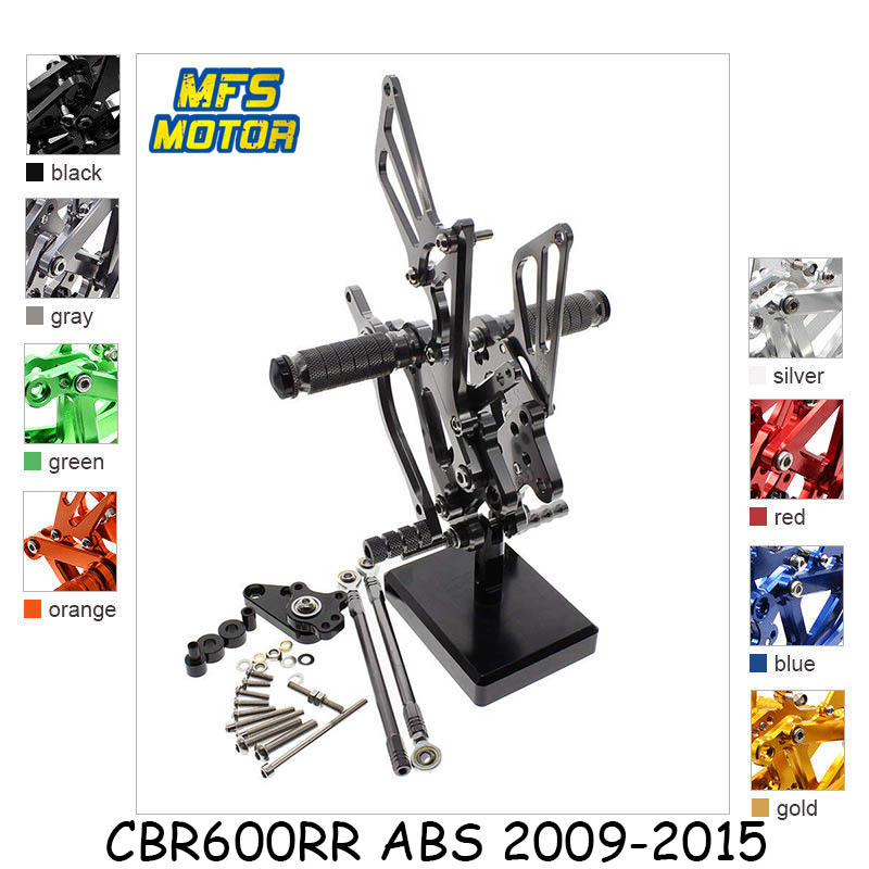 For Honda CBR600RR ABS 2009 - 2015 CNC Adjustable Rearset Foot Rest Foot Pegs CBR 600RR 2010 2011 2012 2013 2014 Foot Rests kemimoto motorcycle footrests for bmw s1000rr foot rest foot pegs 2009 2010 2011 2012 2013 2014 cnc adjustable rearset
