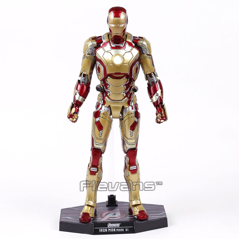Hot Toys Iron Man Mark XLII MK42 with LED Light 1 6th Scale Collectible Figure Model