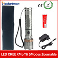 3800LM Led Flashlight 5-modes lampe torche lantern linternas CREE XM-T6 Led Torch With 18650 Battery and charger