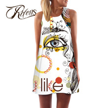 Urifens Plus Size XXL 2018 Round Neck Sexy Summer font b Dress b font Women Vestidos