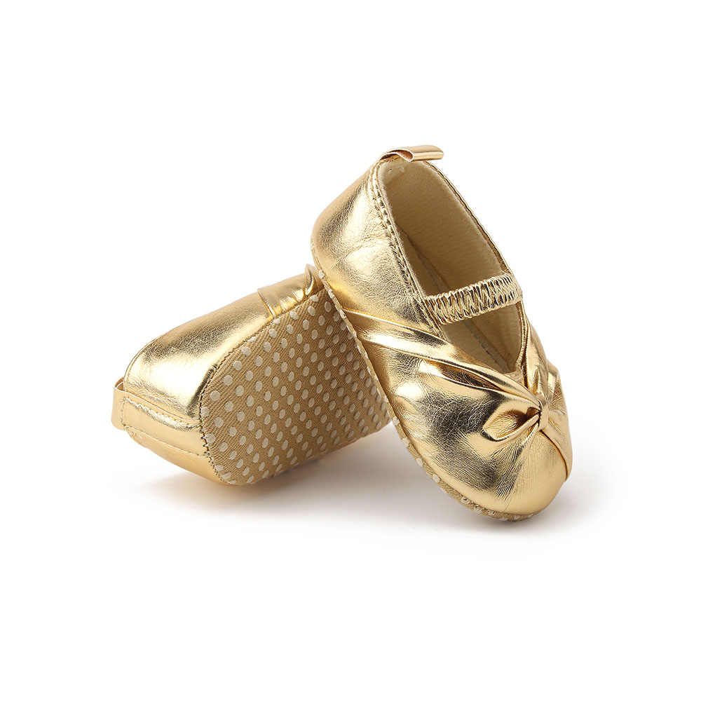 87b8c7f67b Delebao Pure Gold Newborn Baby Shoes New Hot Sale Elegant Fold The Princess  First Walkers For Spring/Autumn Baby Girl Shoes