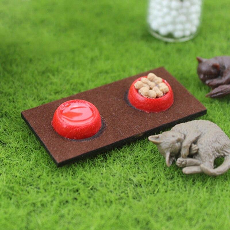 1 Stück Mini Resin Tiernahrung Schüssel Hund Katze Lebensmittel Behälter Für 1/6 1/12 Puppenhaus Pretend Spielzeug Geschenk Für Kinder