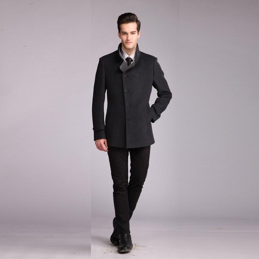 ZHANSHI 2016 Russian Style High Quality Fashion Men Gray Wool ...