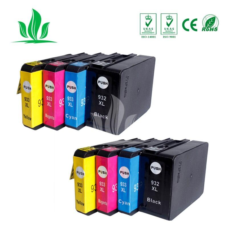 8 pcs 932 933 Ink Cartridges Compatible For HP932 932XL HP933 933XL Officejet 6100 6600 6700