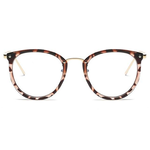 ad782772bd44f Óculos Óculos de Armação Moda Vintage Preto de Metal Frame Ótico Óculos De  Leitura Mulheres Óculos