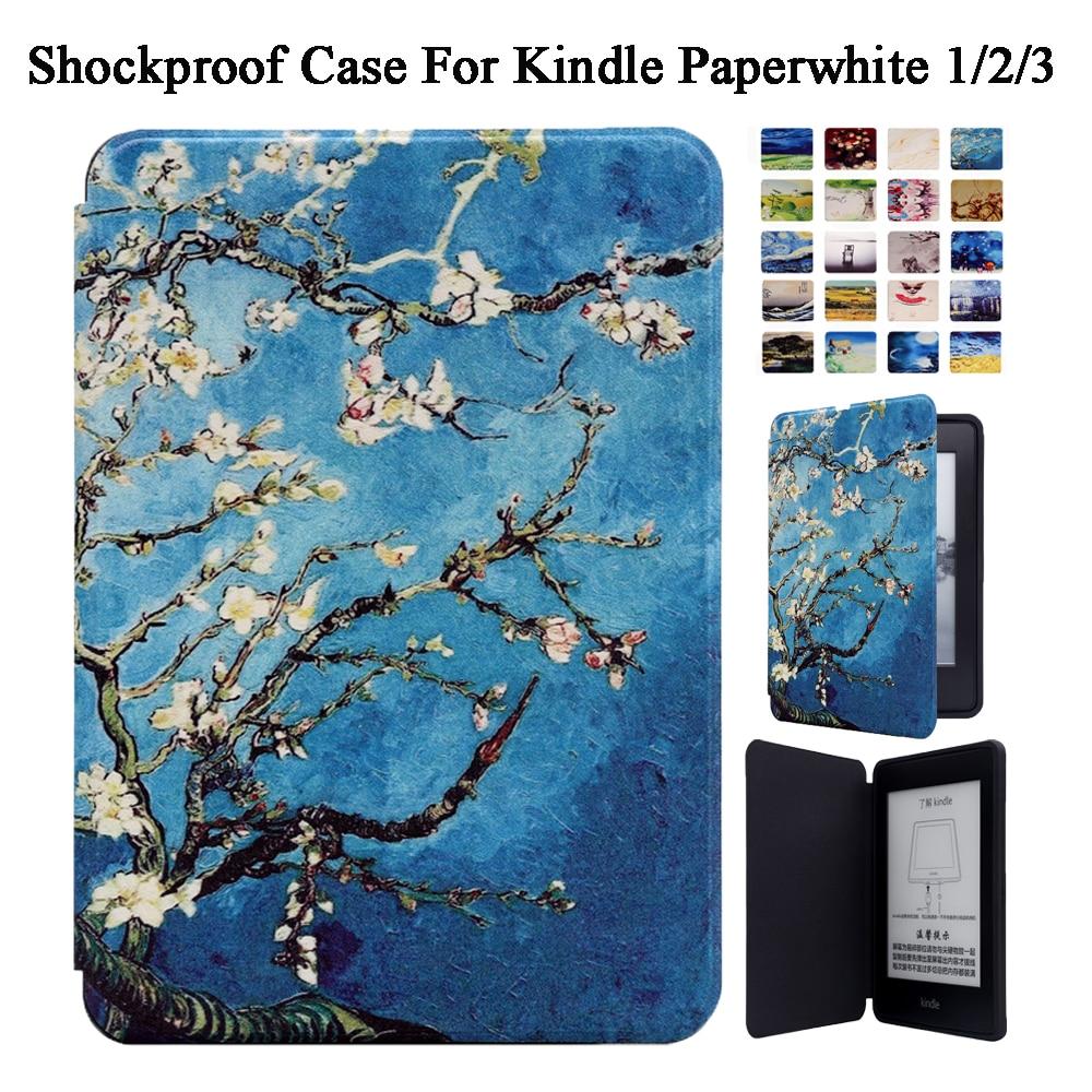 Smart Case Cover For Amazon Kindle Paperwhite 1/2/3 2013 2015 2016 2017 Inteligente Shockproof Magnetic Auto Sleep/Wake