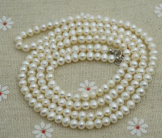 Real pulseira, Pequeno fio de 4 linha pulseira, Prata branco pérola de água doce pulseira, Dia das mães jóias
