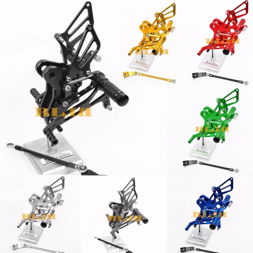 8 цветов ЧПУ Rearsets для Honda CBR1000RR ЦБ РФ 1000rr 2004 - 2007 задний комплект мотоцикла регулируемые подножки для ног педаль колья 2005 2006