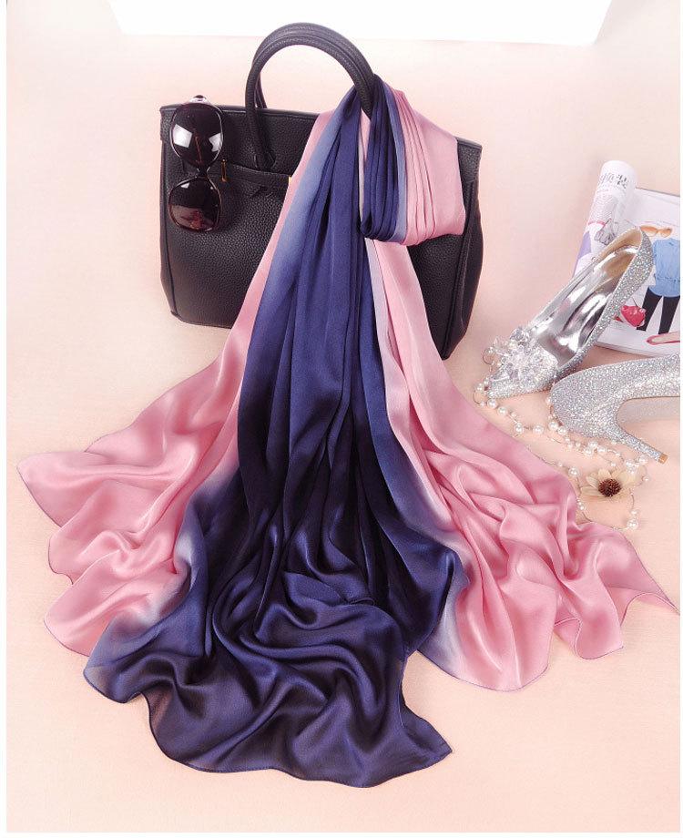 0fd49a8fa012 Dropwow New 2018 Design Luxury Brand Solid silk Summer Scarf ...