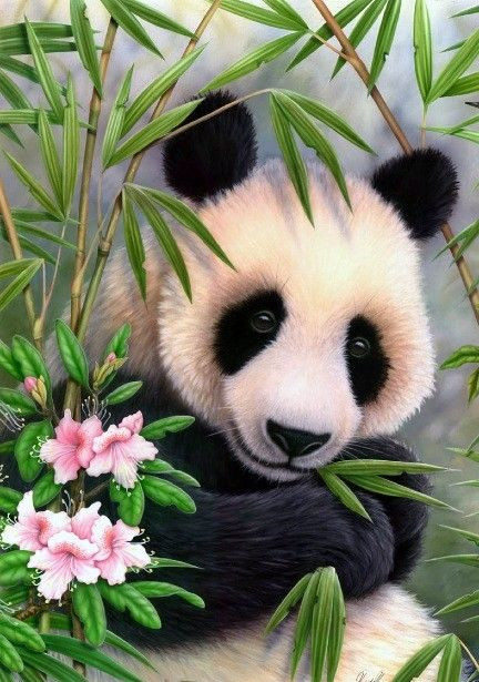 Panda Full Diamond Embroidery Animal Chinese Style Home Decoration Handworked Diamond Painting Square Diamond 3D DIY Needlework