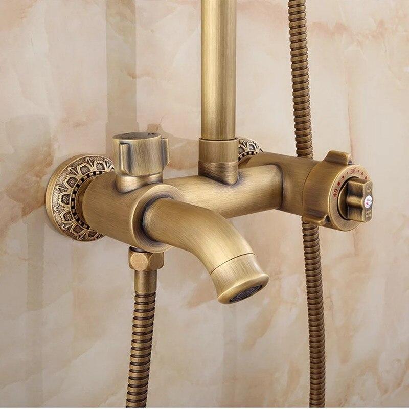Bathroom thermostatic antique shower set faucet mixer bathroom ...