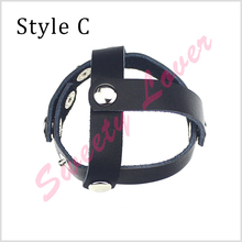 3 pcs/set Genuine Leather Cock Ring Adjustable Cockrings Penis Rings Stretcher Cock Ball Ring for Men Sex Products Erotic Toys
