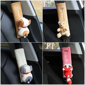 Image 5 - Pack de 2 almohadillas para cinturón de seguridad de coche, almohadilla para correa de hombro Universal para asiento de coche, funda de cojín, Protector para cinturón de coche, funda de cinturón de seguridad YC007