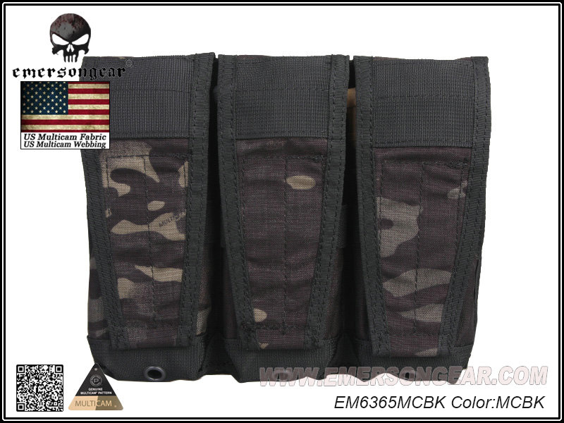 Emerson Molle Tactical Airsoft Outdoor Game Jacht Tassen Stijl Flap Triple Magazine Pouch Voor Avs Vest Militaire Tas Em6365