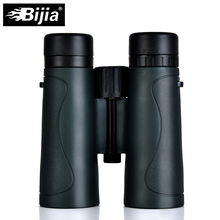BIJIA Military HD 10x42 Binoculars Professional Waterproof Hunting Telescope High Quality Vision Eyepiece Army Green/Black цена и фото