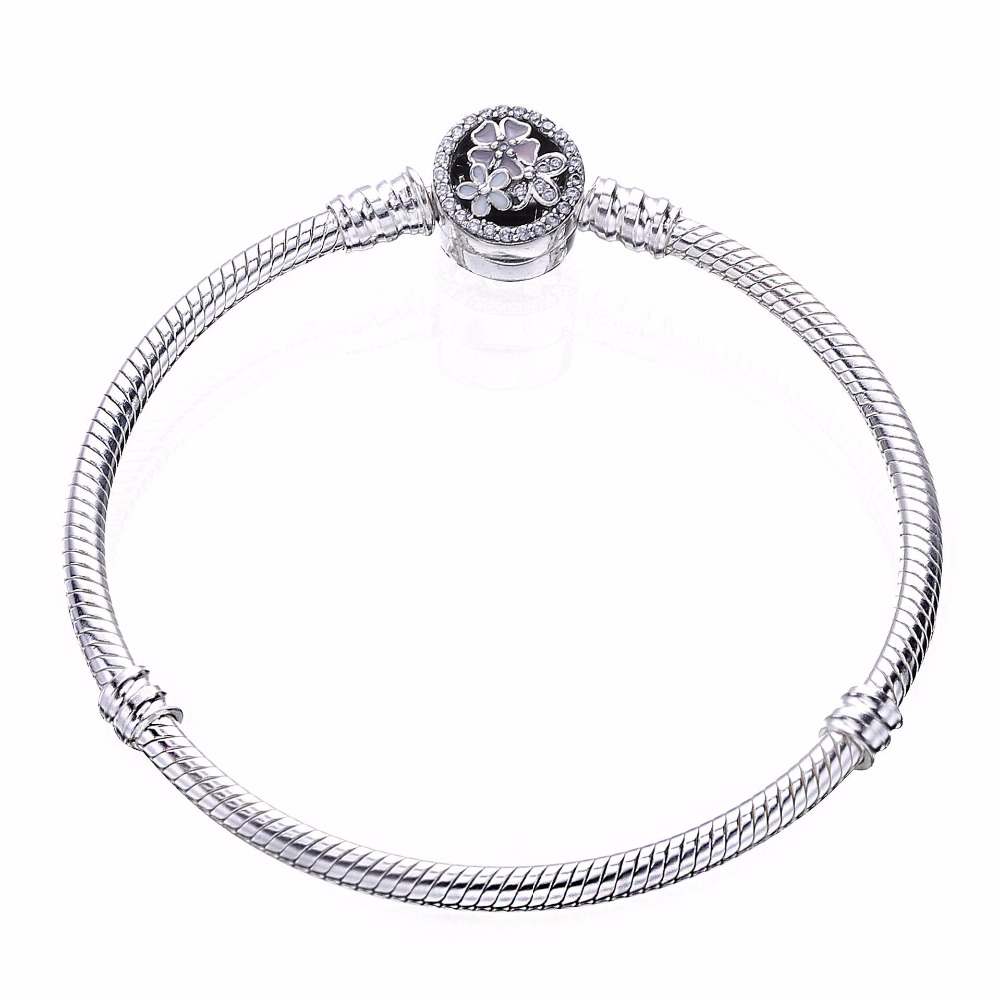2019 wholesale 100% 925 Sterling Silver Spring flower Beads Fit Original Bracelet for Women Authentic Jewelry Fine  Gift 2019 wholesale 100% 925 Sterling Silver Spring flower Beads Fit Original Bracelet for Women Authentic Jewelry Fine  Gift