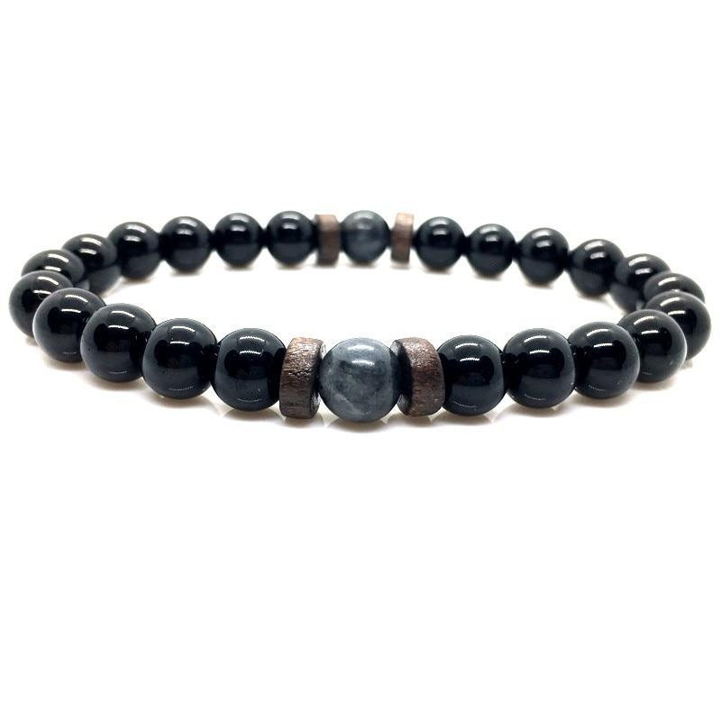 Men Bracelet Natural Moonstone Bead Tibetan Buddha Bracelet chakra Lava Stone Diffuser Bracelets Men Jewelry gift Drop Shipping 5