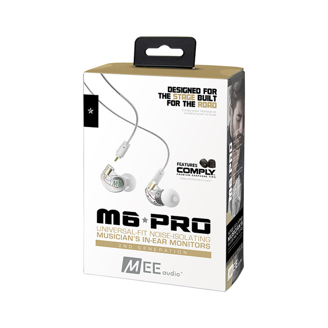 Original M6 PRO 2ND GENERATION NOISE ISOLATING MUSICIAN S IN EAR MONITORS WITH DETACHABLE CABLES earphones sport headphones