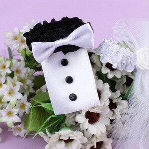 Image 3 - 1 пара, стеклянная крышка для свадебвечерние чашки невесты и жениха