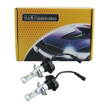 1 Pair 80W K6 Car LED Headlight H1 H4 H7 H11 9005 9006 6000K Automobile Bulb Fog Light Replacement Lamp 12V 24V