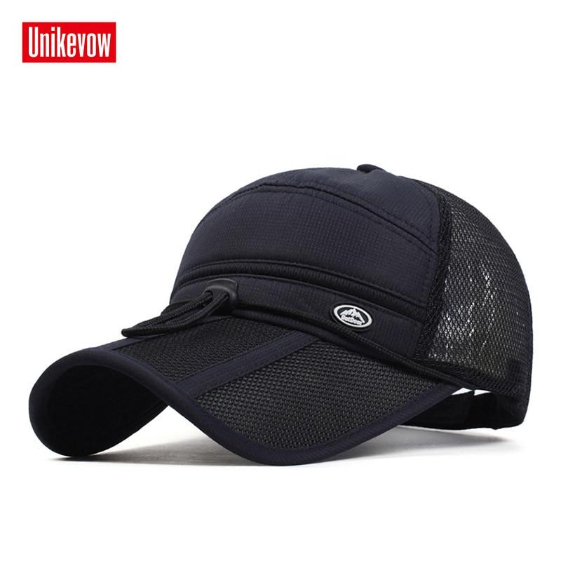 2018 Quick Dry Unisex gorras de béisbol gorra de golf sombrero hombres mujeres larga visera casual sombrero de verano