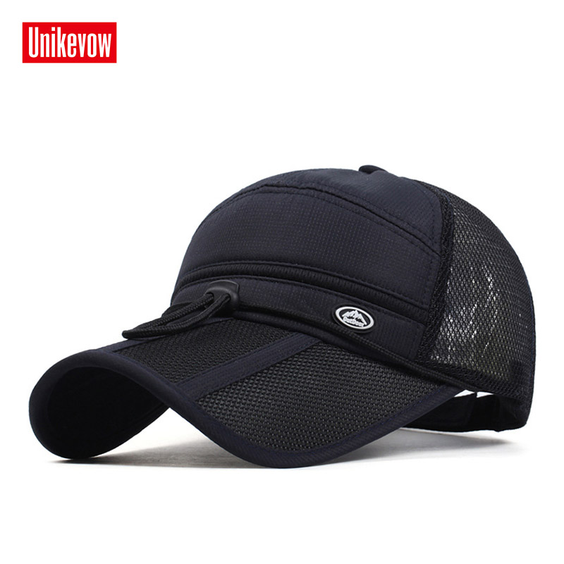 2018 Quick Dry Unisex   baseball     caps   motorcycle   cap   golf hat men women Long visor casual summer hat