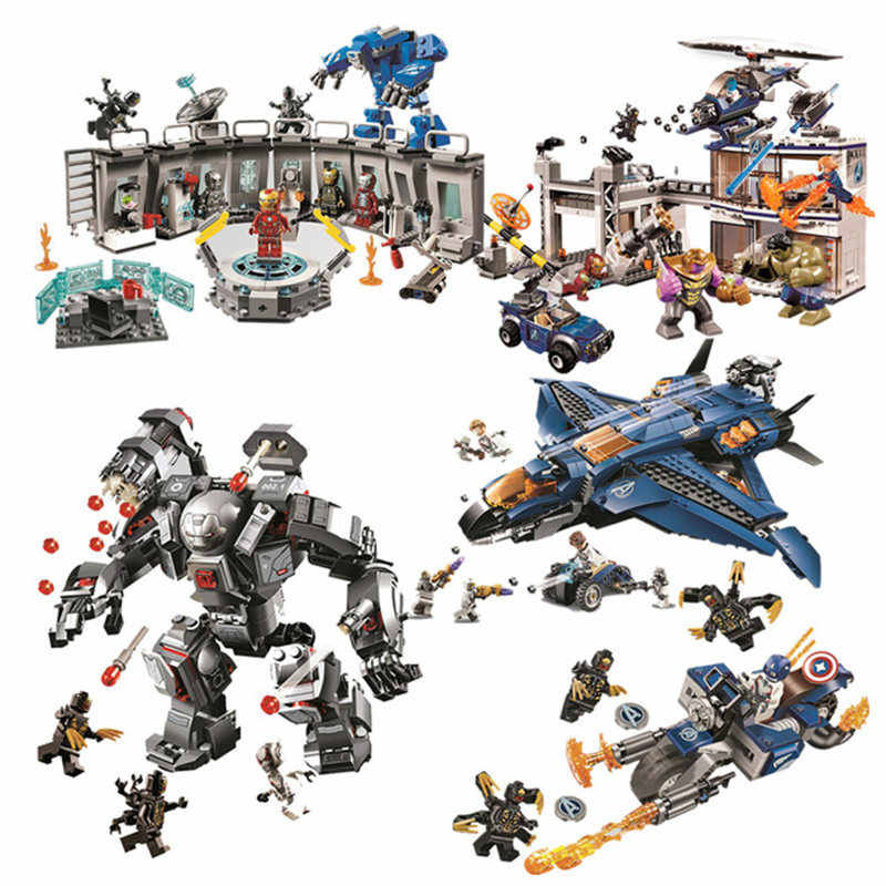 07120 07122 07123 Avengers 4 Endgame Ultimate Quinjet Set Compatible logoing 76126 76131 Building Blocks Brick Toy
