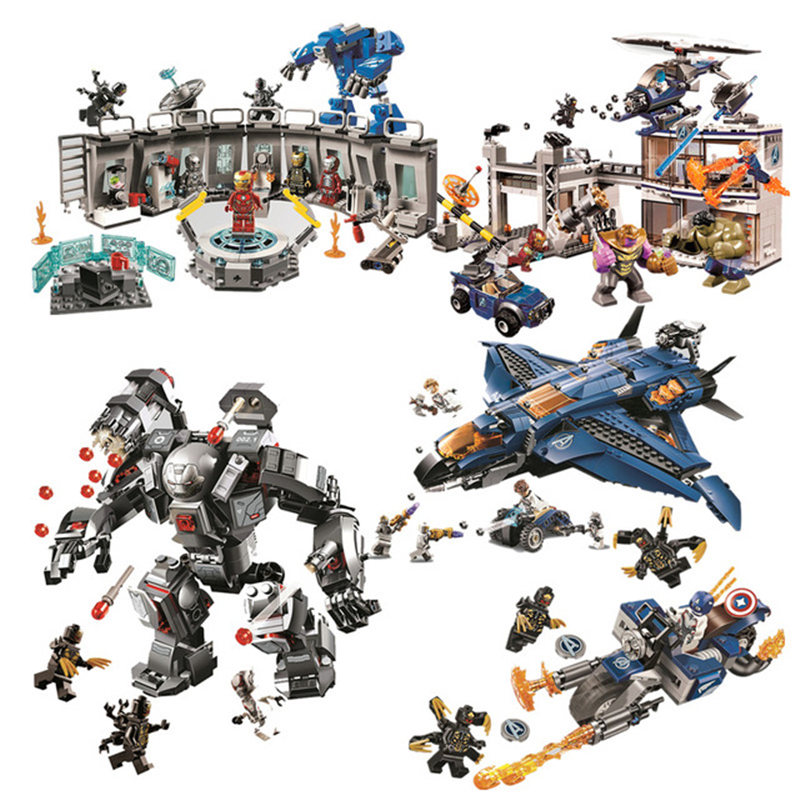 07120 07122 07123 Avengers 4 Endgame Ultimate Quinjet Set Compatible logoing 76126 76131 Building Blocks Brick Toy