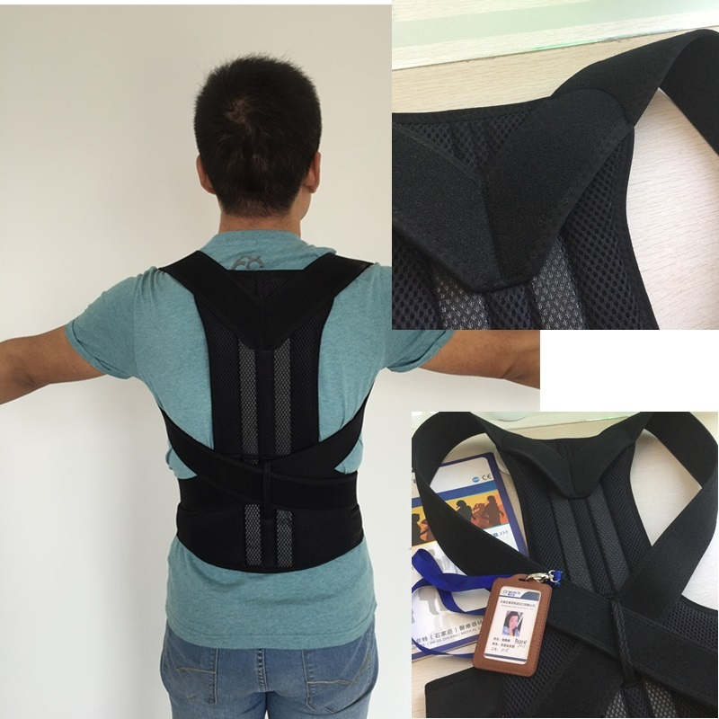 2015 Hot Sale Free Shipping Women Turmalina Posture Corrector Men Adjustable Therapy Back Support Brace Belt Band Training adjustable wrist and forearm splint external fixed support wrist brace fixing orthosisfit for men and women