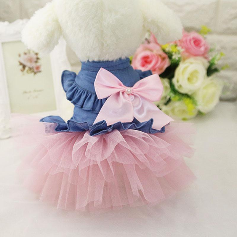 PET Chihuahua princesa moda pequeño perro vestido de fiesta ropa del ...
