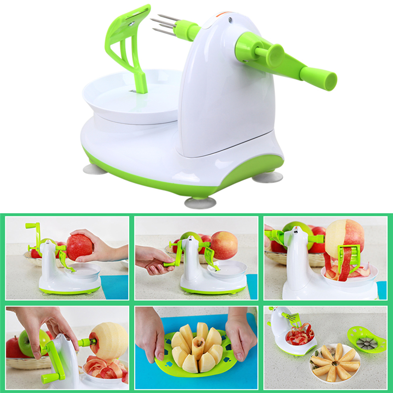 Apple Peeler Fruit Peeler Machine Apple Fruit Machine Peeled Tool Set Creative Home Kitchen Accessories with Apple Cutter Corer