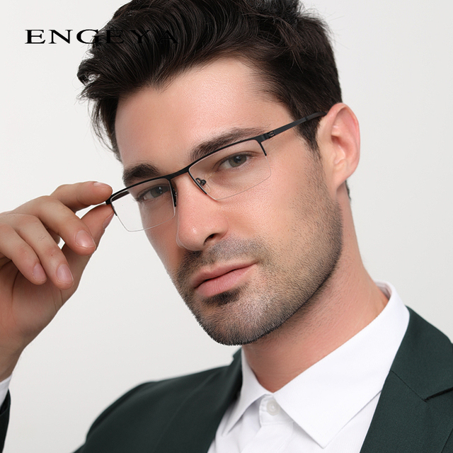 Men Alloy Glasses Frame Clear Fashion Myopia Optical Computer Transparent Spectacles Glasses Male 6 Colors High Quality #8047