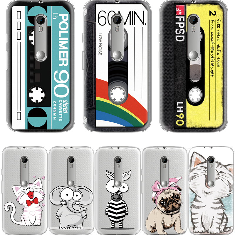 Audio Tape Case For Iphone XS Max X XR 5 SE 6S S 7 8 Plus Cover For Motorola Moto C E4 E5 G3 G4 Play G5 G5S Plus TPU Shell Cover