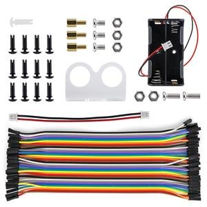 Image 5 - 4WD Draadloze Joystick Afstandsbediening Rubber Wiel Gear Motor Smart Car Kit Met Tutorial Voor Arduino Uno R3 Nano Mega2560