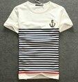 New 2016 Men's t-shirts Fashion casual short sleeve t shirts men male navy spliced tops tees spring summer men clothing
