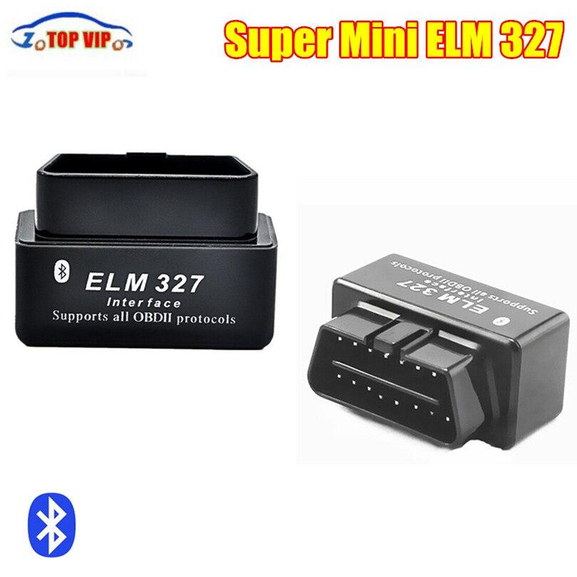 Top Selling Super Mini ELM327with Bluetooth Code Reader Support All OBD2 Protocols V2.1 ELM 327Auto Car Scanner diagnostic tool