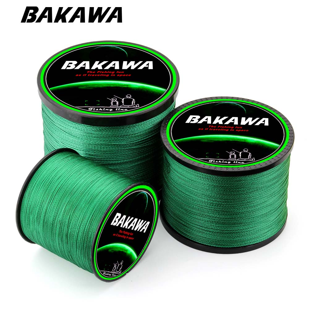 BAKAWA 1000M 4 Strands Carp Fishing Line 100% PE Braided Fishing Line Multifilament Cord For Freshwater all range
