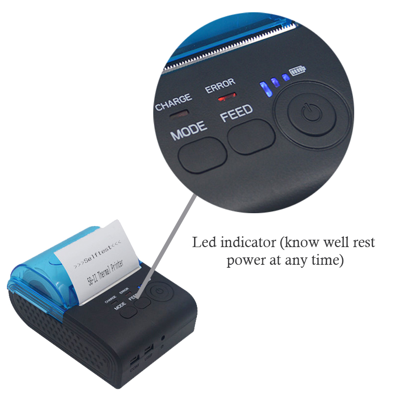 Pos 58mm thermal portable bill printer bluetooth android mobile receipt  printer usb serial port HS-590A with one year warranty - Badr