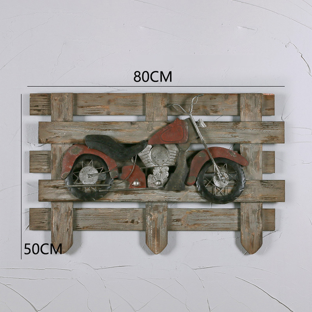 Retro Style Making Old Fence Wall Decorations Wrought Iron Aircraft Car Creative