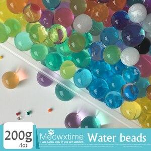 200 g/partia Home Decor kryształ gleby kolorowe koraliki wody w kształcie perły krystaliczne błoto hydrożel żel ogród dekoracja kwiatowa 12 kolor