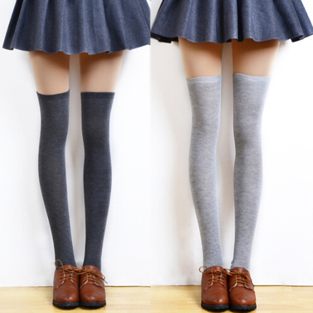 a4b62a810 3Pair Sock Ladies Over Knee High Socks Art Female Sexy Stockings Calcetines  Non-Slip High