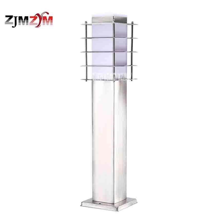 S-6028 Stainless Steel Grass Lamp Landscape Lawn Sward Garden Outdoor Square Pillar Post Light Bollard Lamp Height 60CM Hot Sale ...