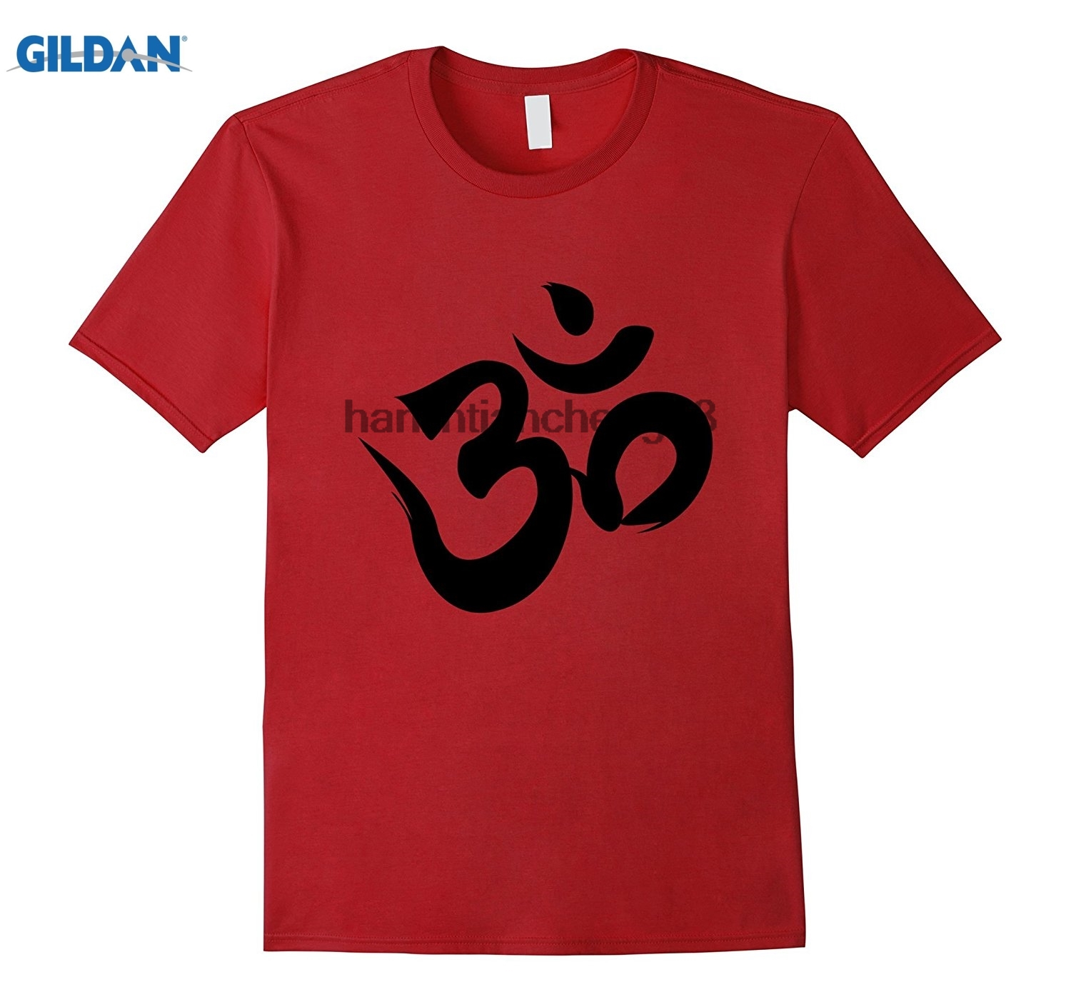 GILDAN 2018 Om T-shirt Woman and Men Ohm Symbol Om Meditation Spirituality Yogas Mens Womens Cotton T-Shirt T shirt