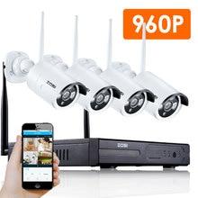 Zosi cctv 4ch sistema 960 p hdmi nvr 4 pcs 1.3mp ir ao ar livre P2P IP Sem Fio da Câmera de CCTV Sistema de Segurança Kit Câmera de Vigilância IP