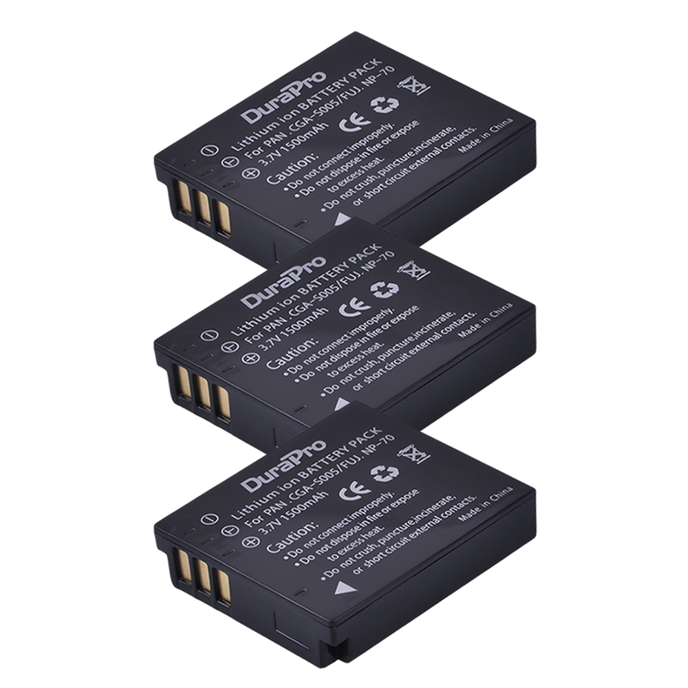 3Pcs 1500mAh CGA-S005E BCC12 S005E DB60 NP70 Battery DMW-BCC12 For Panasonic <font><b>Lumix</b></font> DMC-FX180 DMC-LX1 LX2 <font><b>LX3</b></font> FS1 FS2 FX01 camera image