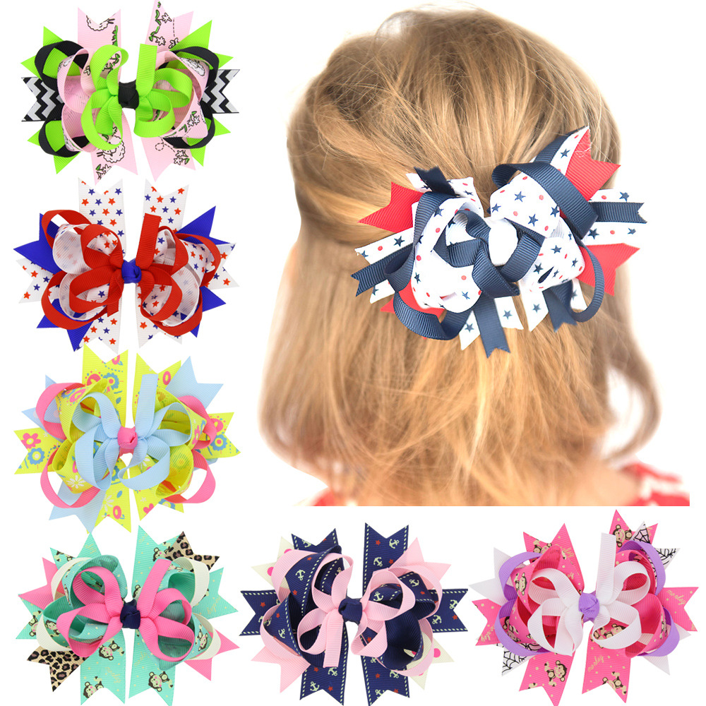 5 Inches Big Polka Dots Hair Bows Navy Blue Red Hairpin Stacked Boutique Kids Bows Hair Clips For Girls Hair Accessories HC098 powder for ricoh ipsio sp c 221 sf for lanier sp c 240dn for ricoh aficio sp 220 a brand new resetter powder lowest shipping