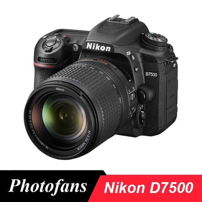 Cámara Nikon D7500 DSLR con lente de 18-140mm