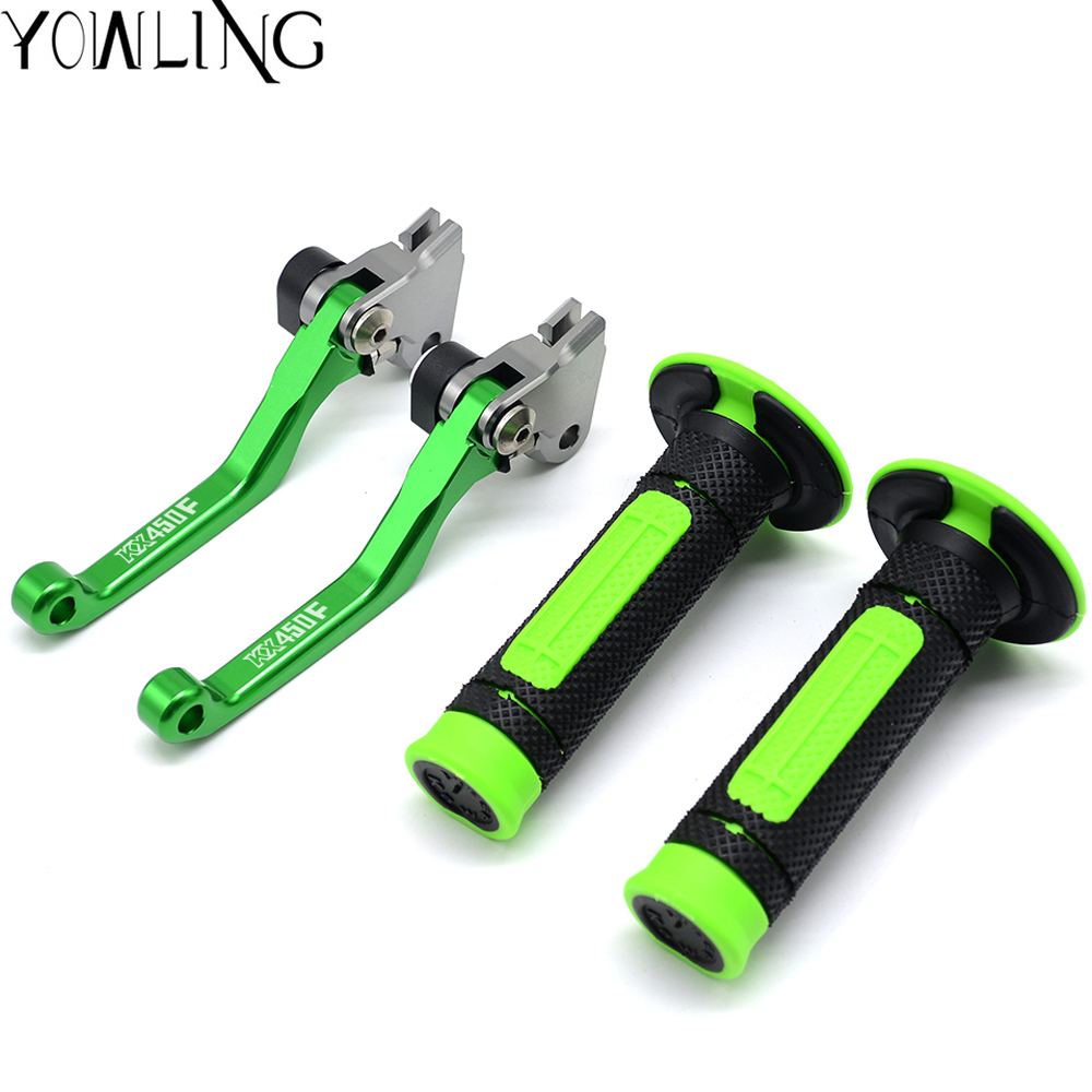 Motorcycle Hand Grips Handle Rubber Bar Grip Brake Clutch Lever For Kawasaki KX 450F KX450F 2006 2007 2008 2009 2010 2011 2012